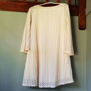 Pinkblush Maternity Lace Cream Swing Dress Small